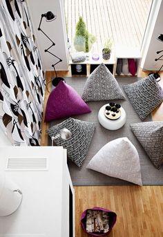 Piristä olohuonetta uusilla kankailla. Ompele säkkituoli, jossa on mukava rentoutua.