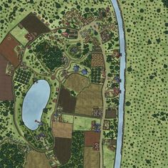 Fantasy Map, Fantasy World, Village Map, Concept Architecture, Cartography, Dungeons And Dragons, Landscapes, Game, Rpg