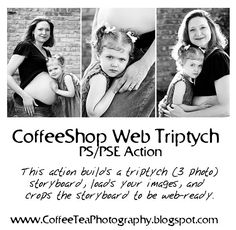 The CoffeeShop Blog: CoffeeShop Web Triptych PS/PSE Action and Template!