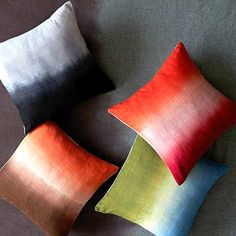 Dip-dye silk pillow covers from West Elm
