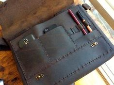 Personalized Messenger Leather Handmade por LUSCIOUSLEATHERNYC