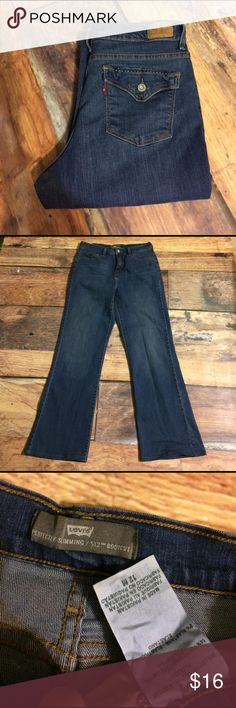 Levi's Perfectly Slimming 512 Bootcut Jeans Gently worn. Women's Size 12M Levi's Perfectly Slimming 512 Bootcut Jeans with 29 inch inseam. No rips, stains or tears. Non smoking home. Levi's Jeans Boot Cut