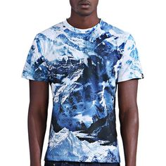Men's Abstract 3D Iceberg Print Round Neck Short Sleeves T-Shirt #CLICK! #clothing, #shoes, #jewelry, #women, #men, #hats, #watches