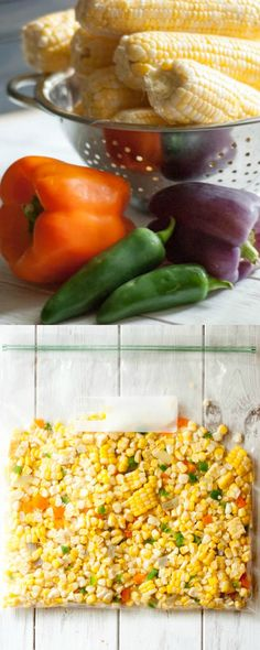 Taco Night Freezer Corn.. Easy way of preserving sweet summer corn for busy Taco Nights to come!
