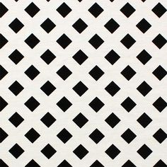 """Off White Lattice on Black Ponte De Roma Knit Fabric - An off white lattice design with black diamond center Ponte de Roma knit.  Ponte de Roma fabric is a thicker medium weight and has a nice stretch, excellent drape, and great recovery.   Fabric has a subtle horizontal texture.  Amazing designer fabric great for maxi skirts, dresses, tops, and more!  Diamonds measure 1"""".  ::  $7.50"""