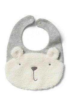 Cozy Polar Bear Baby Bib #affiliate