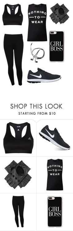 """Jay practice"" by gay-weeb-nerd ❤ liked on Polyvore featuring adidas, NIKE, Black, M&Co and Casetify"