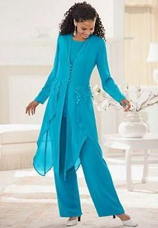 2015 Hot Sale Elegant Chiffon With Long Sleeves Jewel Neck Ruffles Mother Of the Bride Pant Suits Mother Dress Floor Length Evening Dresses Mother Of The Bride Suits, Mother Of Bride Outfits, Mother Of Groom Dresses, Mothers Dresses, Mob Dresses, Formal Dresses For Women, Bride Dresses, Dress Formal, Fancy Dress