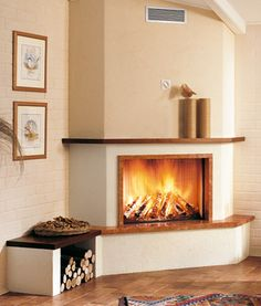 Like this with lower hearth Fireplace Molding, Bedroom Fireplace, Home Fireplace, Modern Fireplace, Living Room With Fireplace, Fireplace Design, New House Construction, Scandinavian Fireplace, Condo Bathroom