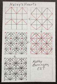 Simple Zentangle Patterns Step By Step S h a u n a this pattern