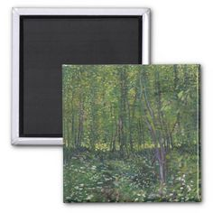 Trees and Undergrowth by Vincent Van Gogh Fridge Magnets