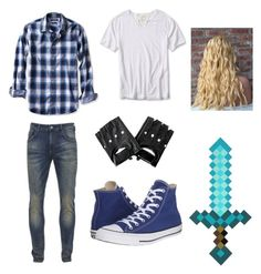 """""""How to cosplay as Garroth from Minecraft Diaries"""" by atang-1 on Polyvore featuring Banana Republic, Scotch & Soda, Converse, women's clothing, women, female, woman, misses and juniors"""
