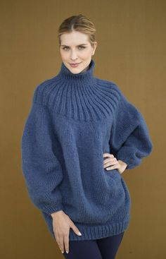 Free Knitting Pattern: Pouf Pullover http://www.lionbrand.com/patterns/90686AD.html?noImages=