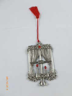 Avon Pewter Window With Candles 2008 Ornament