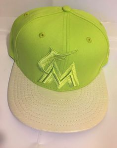 quality design 436d1 90140 NEW ERA 59FIFTY MIAMI MARLINS HAT ON FIELD MIAMI HOLOGRAM MLB FITTED HAT-71 8   fashion  clothing  shoes  accessories  mensaccessories  hats (ebay link)