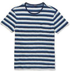 730de47e5e1d4 POLO RALPH LAUREN Slim-Fit Striped Cotton-Jersey T-Shirt.  poloralphlauren