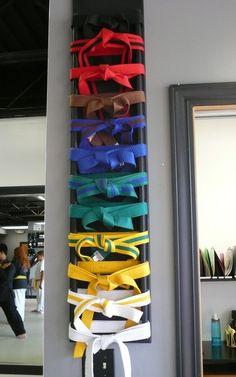 Kyuki-Do Belt Ranking System - we do Tang Soo Do but i love the display.