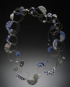 black white and blue -wire loop series Bonnie Bishoff and JM Syron