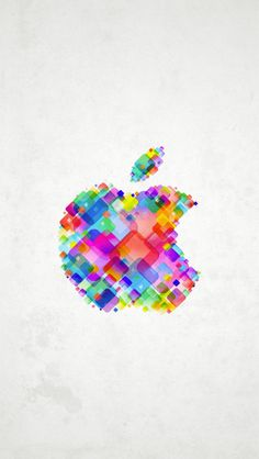Really colorful Apple logo for an iPhone 5 wallpaper!
