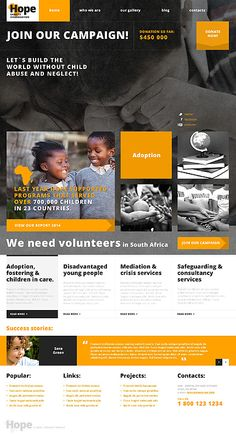 The Top 20 Charity WordPress Themes - Web Design Fanatic Charity Websites, Wordpress Theme, Wordpress Template, Charity Organizations, Website Design Inspiration, Web Layout, Best Graphics, Design Development, Social Media