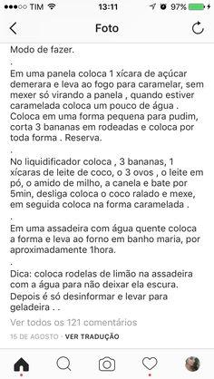 Pudim de banana com côco e canela. Parte 3