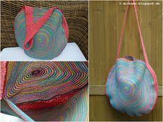 Runde Tasche aus einem Tischset ~ Round tote bag made from a placemat