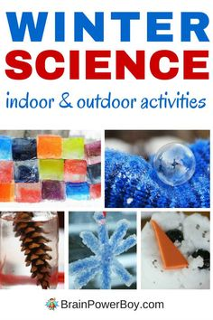 Wonderful indoor winter science activities and outdoor winter science activities that kids will love to do. Perfect ideas to have on hand for those long winter days. Click picture to learn more. Winter Activities For Kids, Kids Learning Activities, Indoor Activities, Science Activities, Science Projects, Science Experiments, Stem Projects, Learning Tools, Preschool Science