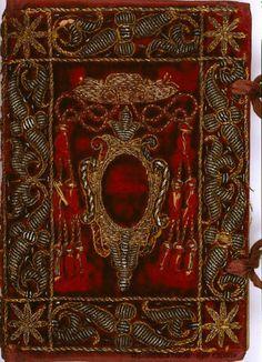 "~ Beautifully Embroidered Manuscript ""I Trionfi"" ~ To Francesco Petrarca, Leonardo Bruni Vintage Book Covers, Vintage Books, Old Books, Antique Books, Book Cover Art, Book Art, Libros Pop-up, Medieval Books, Book Letters"