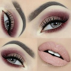 repost from #melissasamways Hello my Loves! Elegant Wine & Champagne Sparkly Makeup #TUTORIAL | #motivescosmetics