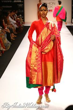 Gaurang Shah bridal collection with Kanjeevaram silk