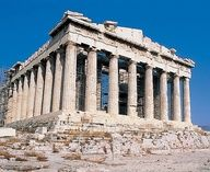 The amazing Parthenon in Athens, Greece- a temple dedicated to the goddess Athena.