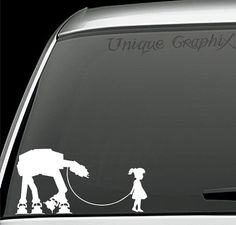 * Star Wars Inspired Girl or Boy walking pet ATAT vinyl decal window sticker * Available in different sizes and colors * Can be applied to almost Star Wars Mädchen, Star Wars Girls, Boy Walking, Bath And Beyond Coupon, Shop Front Design, Window Stickers, Dog Houses, Vinyl Projects, Vinyl Decals