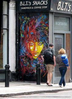 by C215 (Francia) en Londres