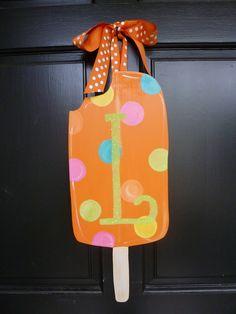 Popsicle Wooden Door Hanger. $40.00, via Etsy.