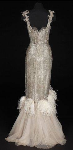 """Back of Charles LeMaire dress worn by Susan Hayward in """"With a Song in My Heart"""", 1952"""