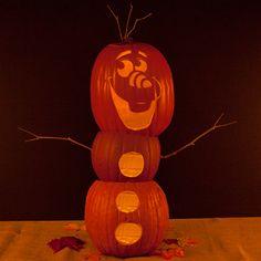 Olaf Pumpkin-Carving Template   Spoonful