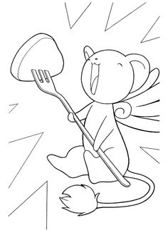 Kero Sakura, Cardcaptor Sakura, Coloring Pages For Girls, Coloring Book Pages, How To Draw Anything, Sakura Card Captor, Manga Pages, Learn To Draw, Anime