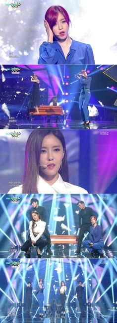 'Music Bank' T-Ara Members Eunjung  And Hyomin Collaborate On Stage - http://imkpop.com/music-bank-t-ara-members-eunjung-and-hyomin-collaborate-on-stage/