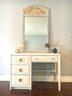 Blue Cream Gold Dresser Set 600 Sold Uproar Decor Upcycled Furniture Pinterest Sets And