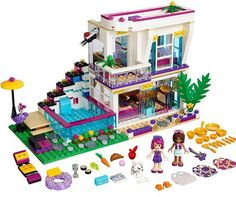 Bela 10498 Friends Series Livi's Pop Star House Model building kits compatible with lego city blocks toys for children Model Building Kits, Building Blocks Toys, House Building, Lego Sets, Toys For Girls, Kids Toys, Lego Friends Sets, Friends Series, Chat Origami