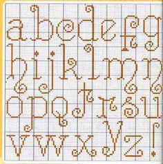 ♥Meus Gráficos De Ponto Cruz♥: Alfabetos Diversos em Ponto Cruz