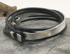 EXPRESS SHIPPING Xmas gift. Men's leather bracelet. by eliziatelye