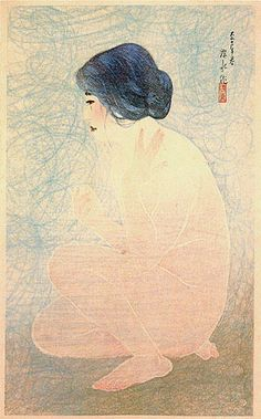 Bathing in Early Summer  by Ito Shinsui, 1922  (published by Watanabe Shozaburo)