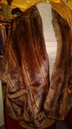 Faux mink stole w/ large front pockets   sunnymoonboutique.com