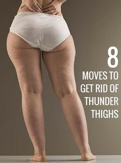 8 effective exercises to get rid of your thigh fat. #weightlossmotivation
