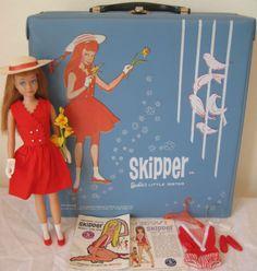 Vintage Skipper, Carry Case wearing Red Sensation Outfit