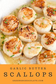 scallops and risotto & scallops recipe ; scallops and pasta ; scallops wrapped in bacon ; scallops and risotto ; scallops and shrimp ; scallops in air fryer Grilled Scallops, Baked Scallops, Seafood Scallops, Pan Seared Scallops, Fish Recipes, Seafood Recipes, Cooking Recipes, Dinner Recipes, Healthy Recipes
