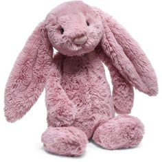 Jellycat Medium Bashful Bunny Stuffed Animal ($20) ❤ liked on Polyvore featuring kids accessories toys and pink