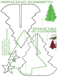Decor fir to decorate the table or hang. To print, cut out and . Christmas Makes, Noel Christmas, Christmas Colors, All Things Christmas, Christmas Ornaments, Diy Xmas, Christmas Paper Crafts, Christmas Projects, Holiday Crafts