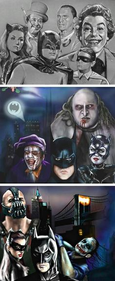 Batman, through the ages. Pretty, awesome.